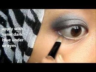 Makeup Tutorial : Blue Grey Smokey Eyes