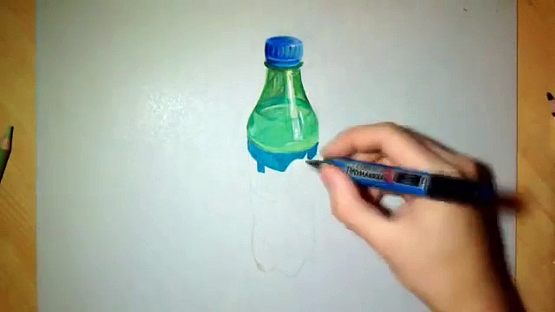 Drawing Realistic Sprite Bottle O Video Dailymotion