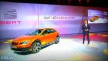 PREMIERE Seat Leon Cross Sport Concept 2015 4x4 2.0 Turbo 300 cv 0-100 kmh 4,9 s