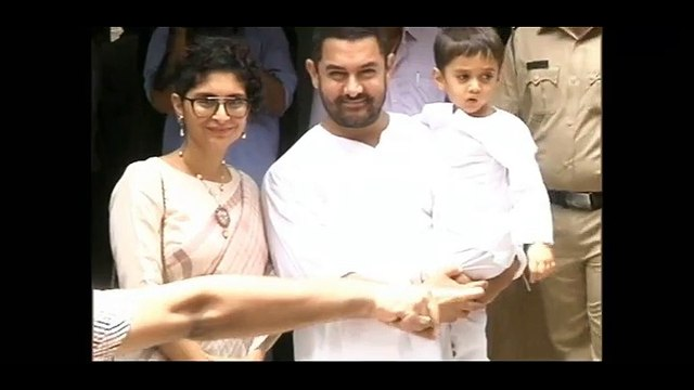 Aamir Khan celebrates EID 2015 with wife Kiran Rao and son Azad