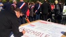 L'association des maires d'Ille et Vilaine devant la préfecture de région à Rennes
