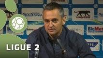 Conférence de presse AJ Auxerre - Clermont Foot (1-0) : Jean-Luc VANNUCHI (AJA) - Corinne DIACRE (CF63) - 2015/2016