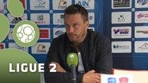Conférence de presse Bourg en Bresse 01 - Stade Brestois 29 (3-1) : Hervé DELLA MAGGIORE (BBP) - Alex  DUPONT (BREST) - 2015/2016