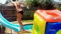 Videos de Risa - Saltos en la piscina