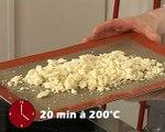 Tartare de boeuf au basilic et crumble au parmesan Parmigiano Reggiano