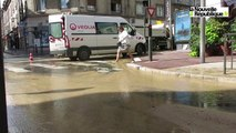 VIDEO. Blois : grosse inondation rue Denis-Papin