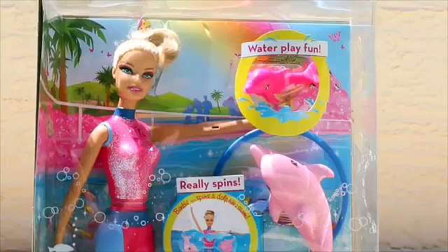 BARBIE Dolphin Trainer I Can Be Barbie Underwater Pool Toys Doll Pet Trainer DisneyCarToys