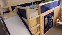 Ce papa bricoleur a modifié ce lit IKEA pour son fils - Pièce secrète, jeux énormes....