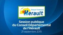 [21-09-2015] Session publique du Conseil départemental de l'Hérault