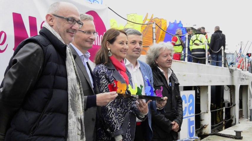 Ségolène Royal fait découvrir au public l'Arche de Noé Climat