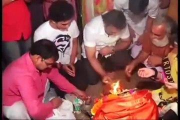 Govinda does Ganpati Visarjan 2012