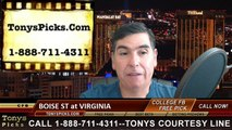 Virginia Cavaliers vs. Boise St Broncos Free Pick Prediction Odds NCAA College Football Preview 9/25/2015