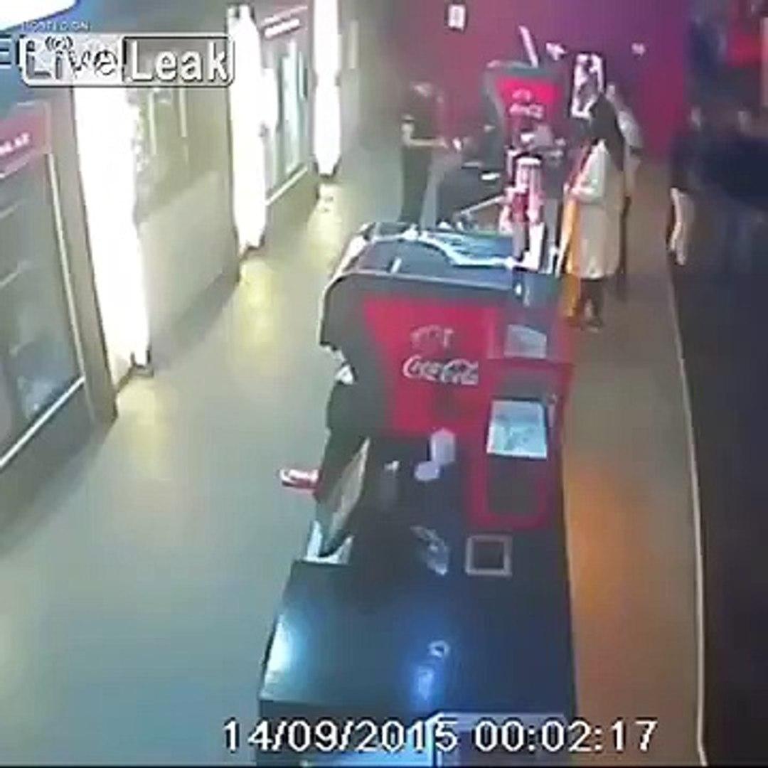 LiveLeak com - Man attacks a woman in a cinema