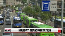 Seoul bus and subway services extended for Chuseok holiday