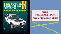 Dodge Durango & Dakota Pick-ups Durango 2000 thru 2003 Dakota 2000 th