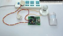 Infrared Motion Detector Controls AC Lamp with Time Delay Function