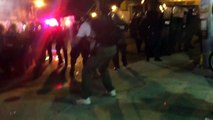 Baltimore Riots Cops Shoot Tear Gas and Rubber Bullets For Crewfew