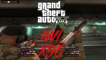 GTA V - Glock 17 pistol & IWI X95 bullpup assault rifle: modded weapons full animated (Ammunation Shooting Range)
