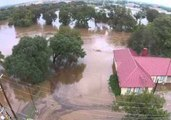 Drone Footage Shows Flooding in San Marcos, Texas