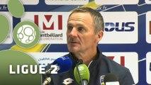 Conférence de presse FC Sochaux-Montbéliard - Evian TG FC (1-0) : Albert CARTIER (FCSM) - Safet SUSIC (EVIAN) - 2015/2016