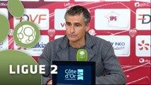 Conférence de presse Dijon FCO - Stade Brestois 29 (3-1) : Olivier DALL'OGLIO (DFCO) - Alex  DUPONT (BREST) - 2015/2016