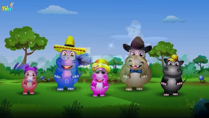Finger Family Hippo | Nursery Rhymes for Kids