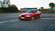 BMW e36 Burnout, Donuts, Turbo. Sound of Blowoff Greddy & Exhaust.