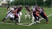 Quand des joueurs de Football Amé jouent aux chaises musicales... Violent!