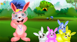Five Little Rabbit Jumping On The Bed   Nursery Rhymes for Kids