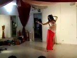 Crazy cocktail of belly dance: Nadhine can dance anywhere!