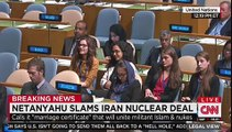 Netanyahu Stares Down UN for 45 Seconds to Protest 'Utter Silence' on Iran