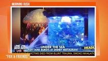 Un aquarium explose dans un restaurant !
