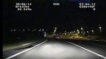 Grande Bretagne : une voiture de police filme une météorite