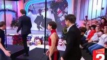 Stéphane Bern très doué à son cours de pole dance !