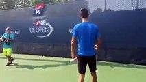 Djokovic Funny Video - Impersonator turns the tables on Novak Djokovic US OPEN 2015