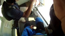 Skydiver steals another skydivers shoe in mid air