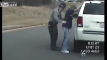 Drunk cop giving a sobriety test. Yes, the COP is Drunk!