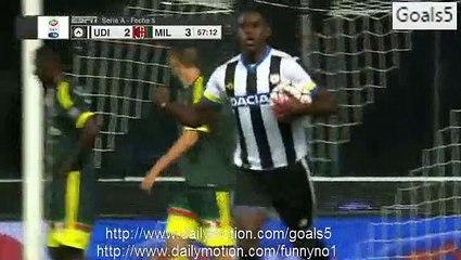 Duvan Zapata Goal Udinese 2 - 3 AC Milan Serie A 22-9-2015