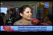 Claudia Camposano a la espera de poder tener a su segundo hijo