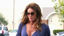 Caitlyn Jenner Shows Off Cleavage in Slinky Blue Dress