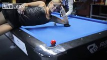 Sexy Pool Trick Shots With Totally Insane Skills
