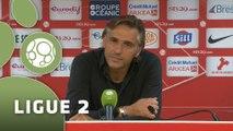 Conférence de presse Stade Brestois 29 - Chamois Niortais (1-1) : Alex  DUPONT (BREST) - Régis BROUARD (CNFC) - 2015/2016