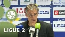 Conférence de presse FC Sochaux-Montbéliard - Dijon FCO (0-1) :  (FCSM) - Olivier DALL'OGLIO (DFCO) - 2015/2016