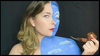 Ceci n'est pas une pipe. Magritte - Maquillage artistique