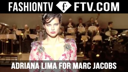 Adriana Lima walks for Marc Jacobs! NYFW | FTV.com