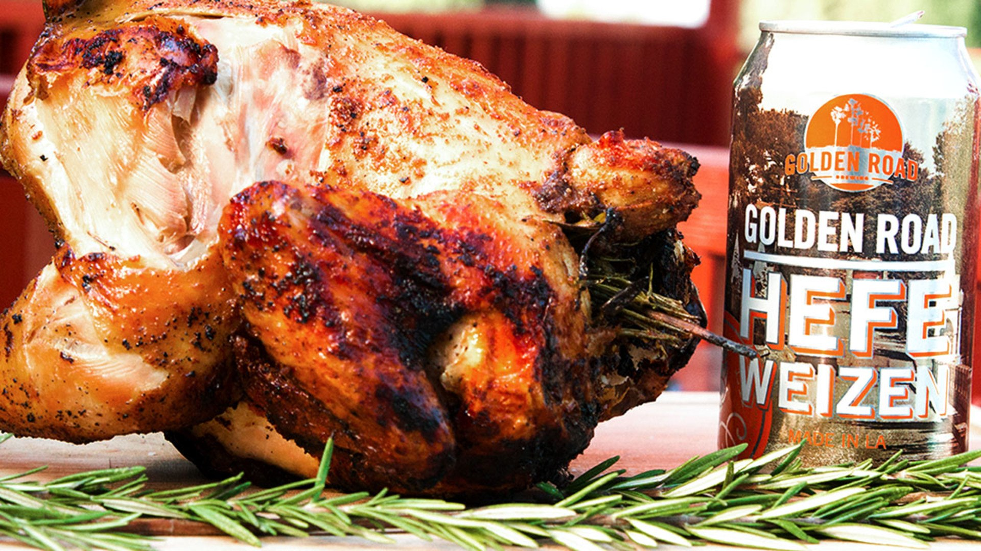Better Than Bobby Flay Try Our Golden Road Beer Can Chicken Savor It Video Dailymotion