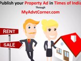 Property Newspaper Ads, Property Classified and Display Advertisement in Newspaper