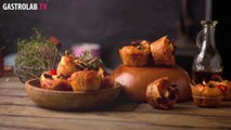 Mini Focaccia with Roasted Vegetables Recipe