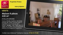 A vendre - Maison - AVALLON (89200) - 9 pièces - 220m²