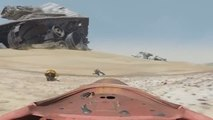Landspeeder Tour of Star Wars Battlefront & Force Awakens Jakku (Battle of Jakku DLC)